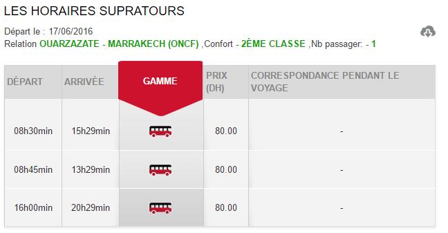 Horários e preços do autocarro desde Ouarzazate até Marrakech
