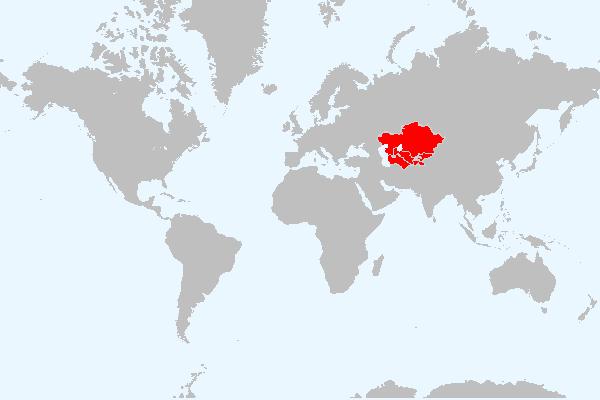MAPA DA ASIA CENTRAL
