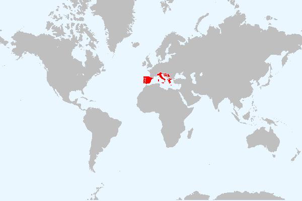 MAPA DA EUROPA MERIDIONAL