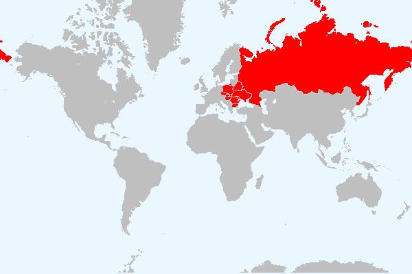 MAPA DA EUROPA ORIENTAL