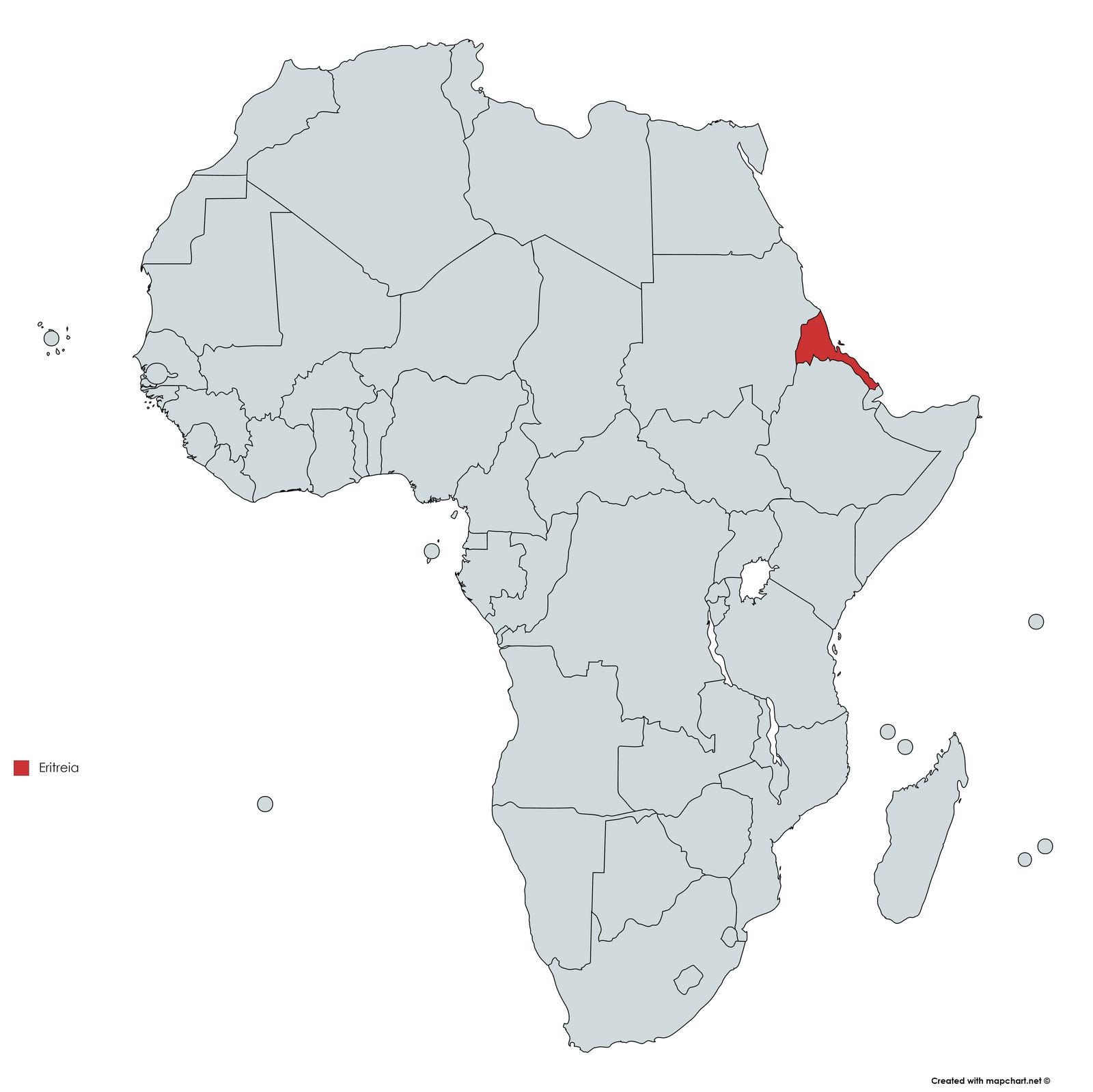 MAPA ERITREIA
