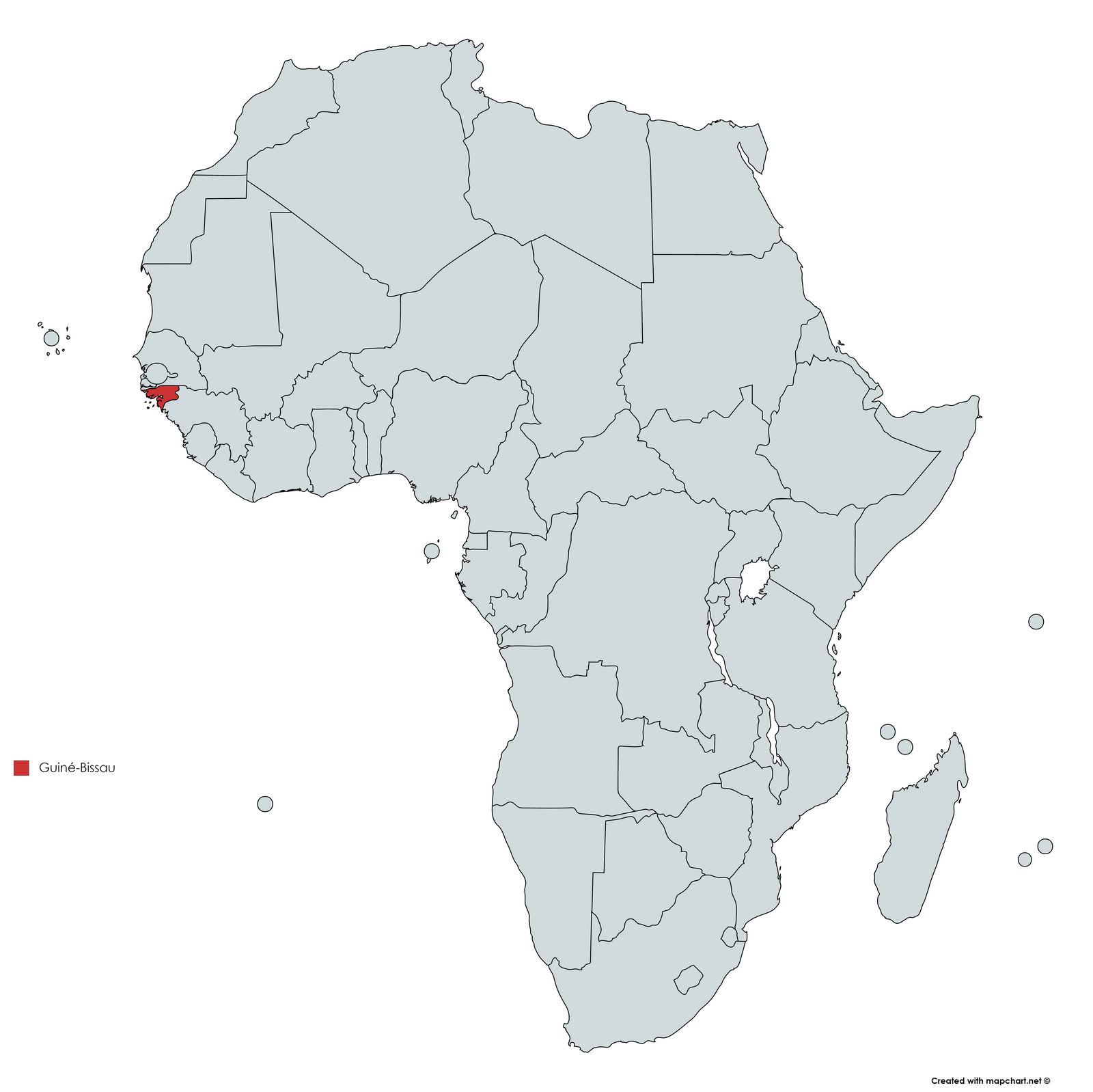 MAPA GUINE BISSAU
