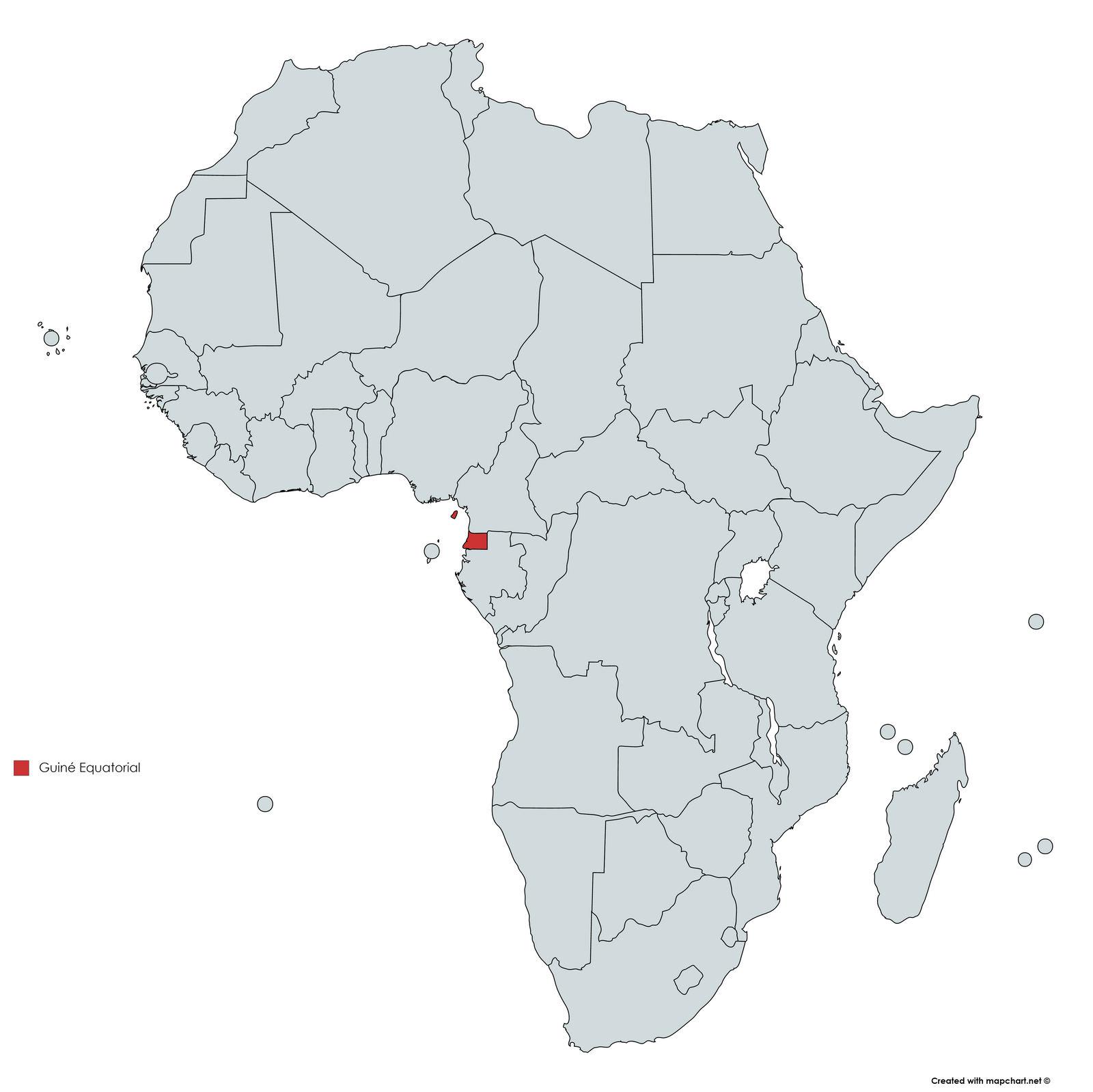 MAPA GUINE EQUATORIAL