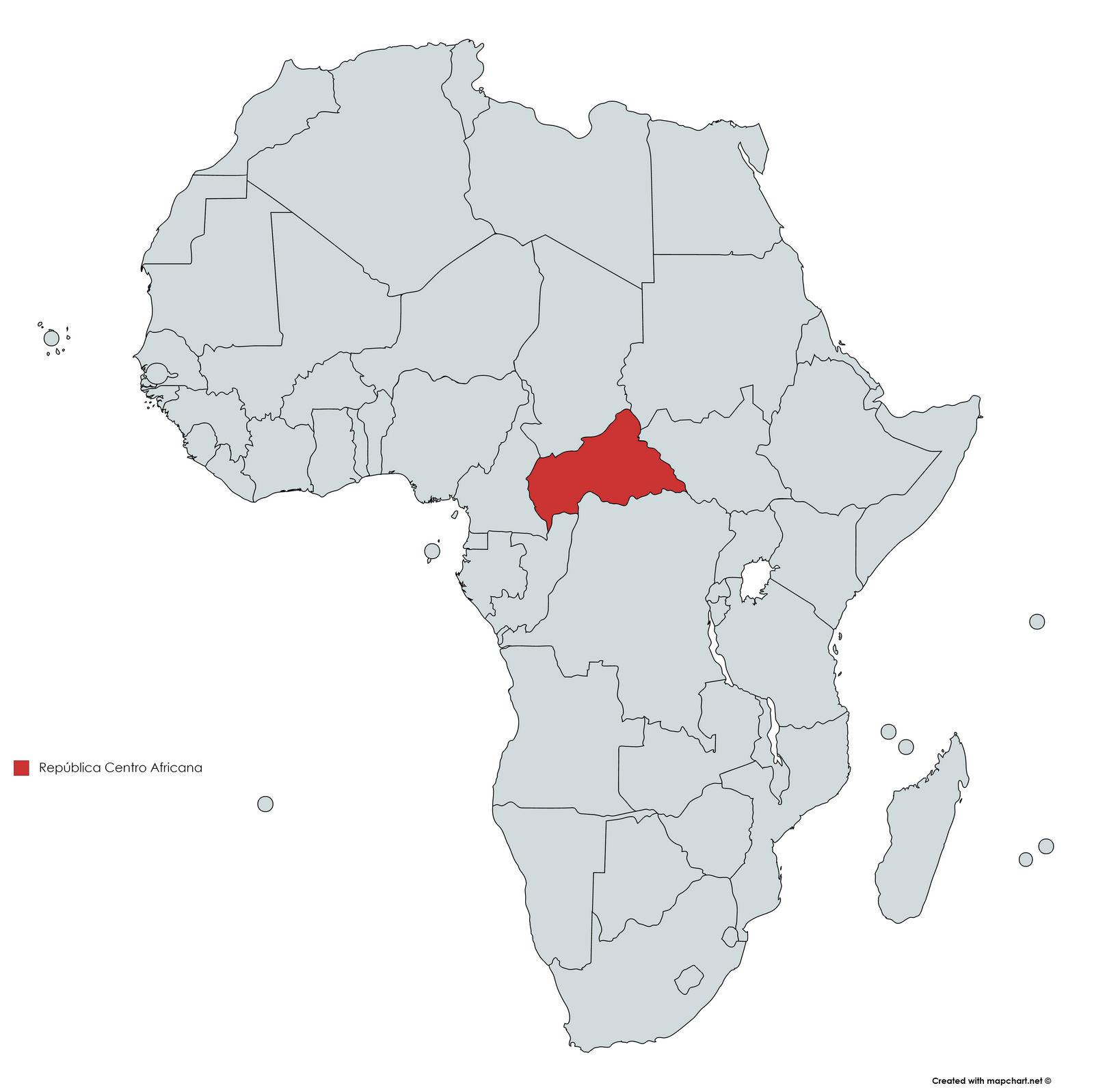 MAPA REPUBLICA CENTRO AFRICANA