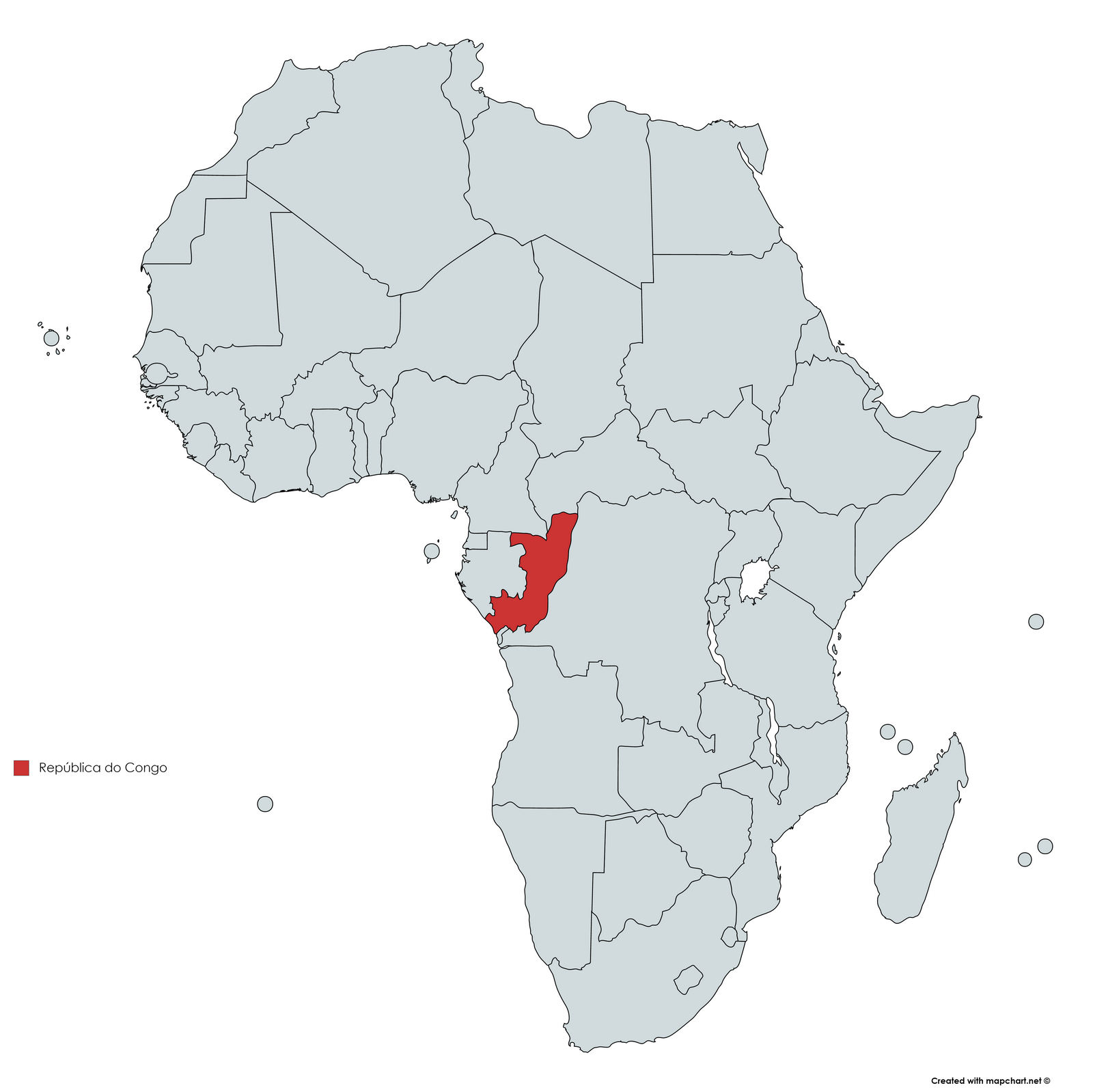 MAPA REPUBLICA DO CONGO