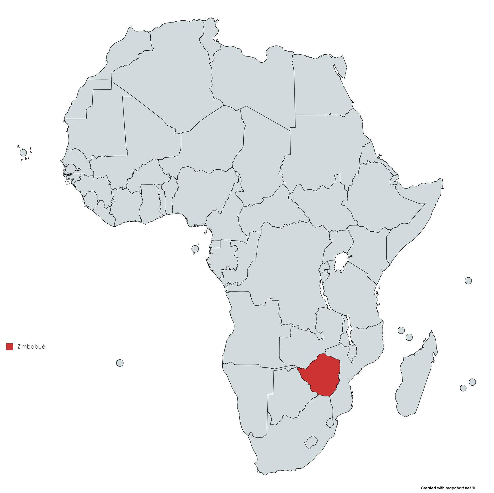 MAPA ZIMBABUE
