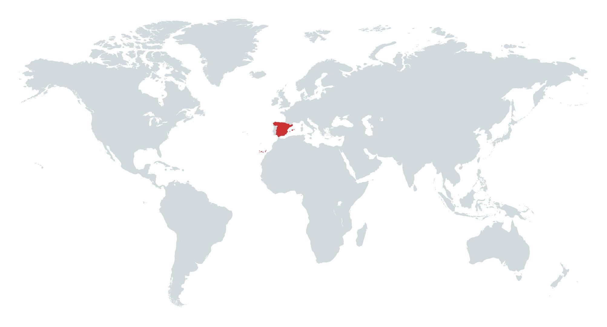 Mapa de Espanha no Mundo