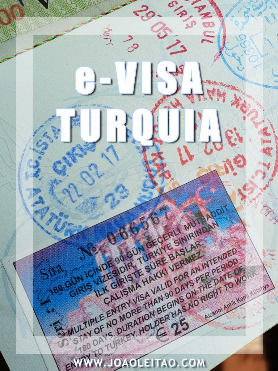 COMO FAZER O VISTO ELECTRONICO PARA A TURQUIA E-VISA