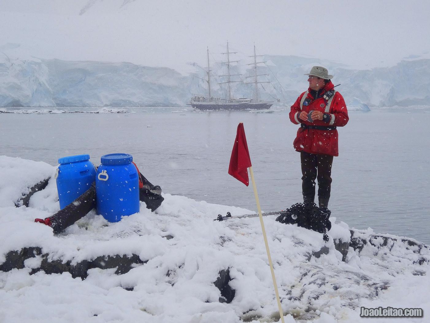 Jougla Point na Antártida