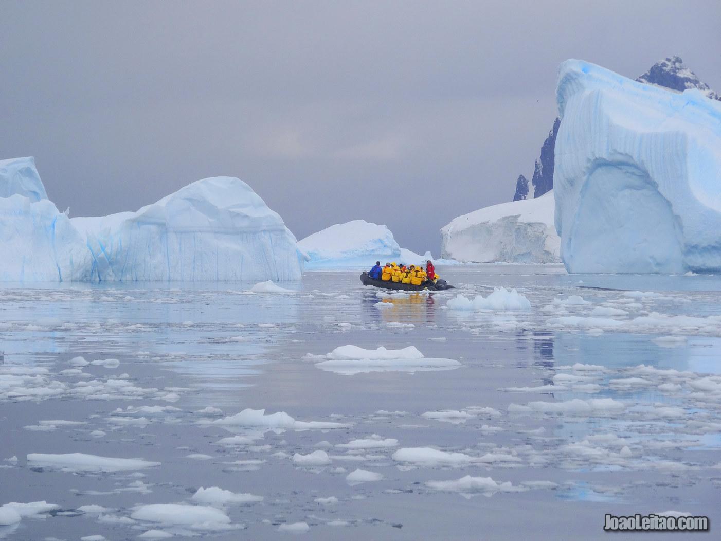 Observar Icebergues na Antártida