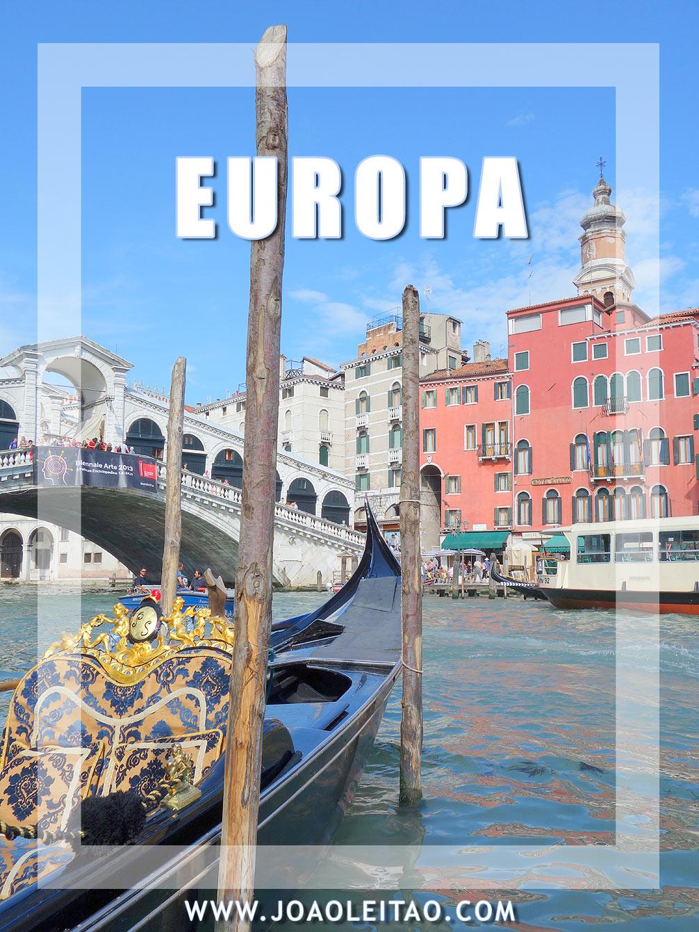 O que visitar na Europa