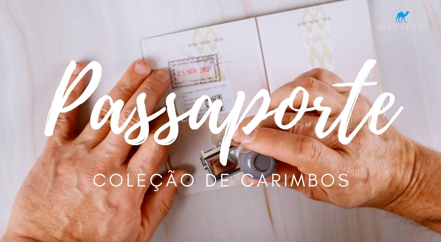 Coleção de carimbos no passaporte