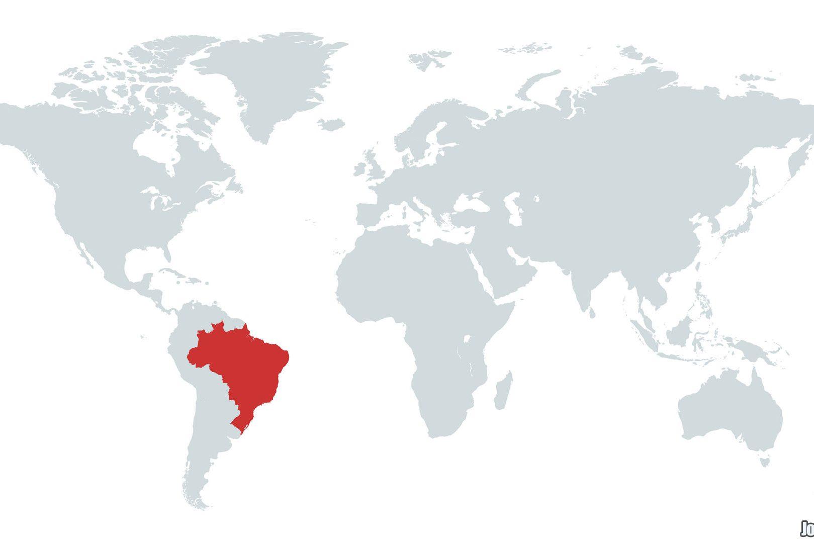 Mapa do Brasil no Mundo