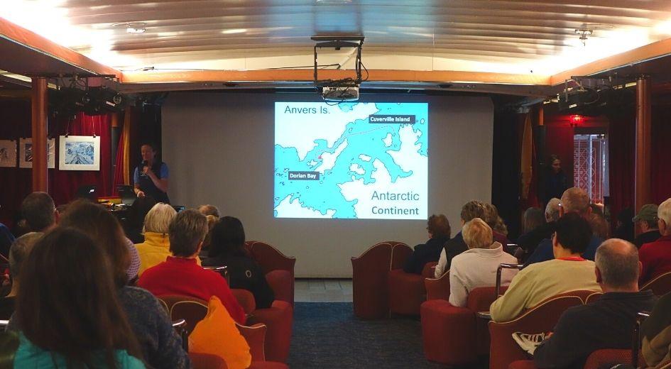 Actividades a Bordo do navio para a Antártida
