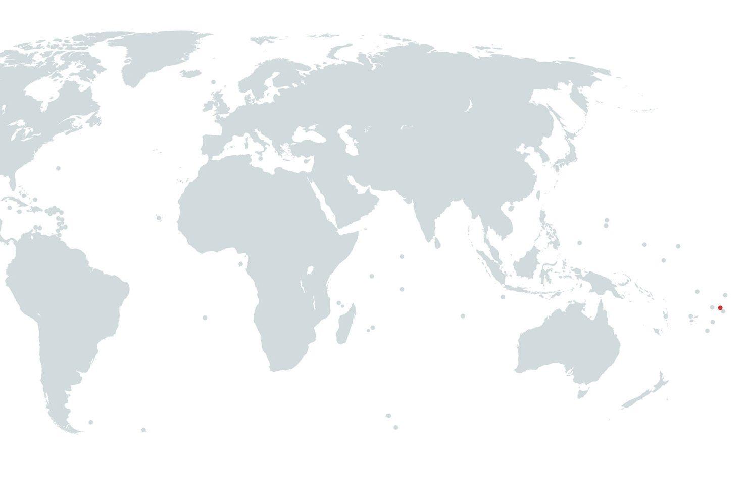 Mapa de Samoa no Mundo