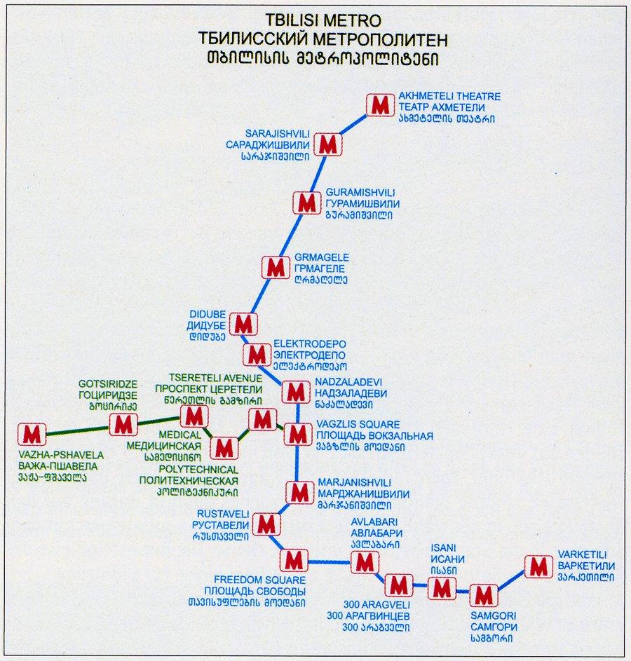 Mapa Metro Tbilisi