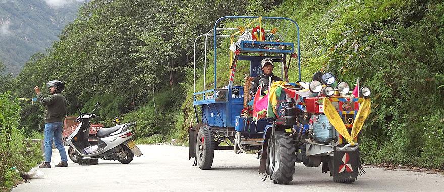 Border Nepal and Tibet-China