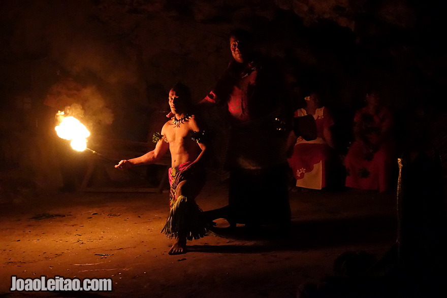 Visit a Fire Dance Show Tonga