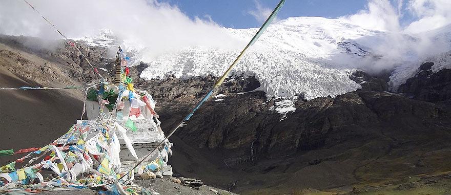Kharola Glacier in Tibet