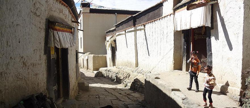 Shigatse old city in Tibet