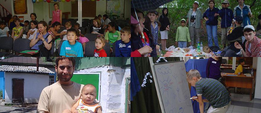 Verão de voluntariado para crianças no Cazaquistão