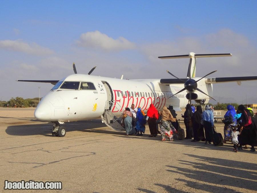 Flight Berbera to Addis Ababa - Somaliland to Ethiopia