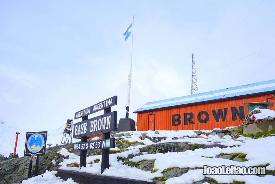 Almirante Brown Scientific Station in Graham Land, Antarctic Peninsula