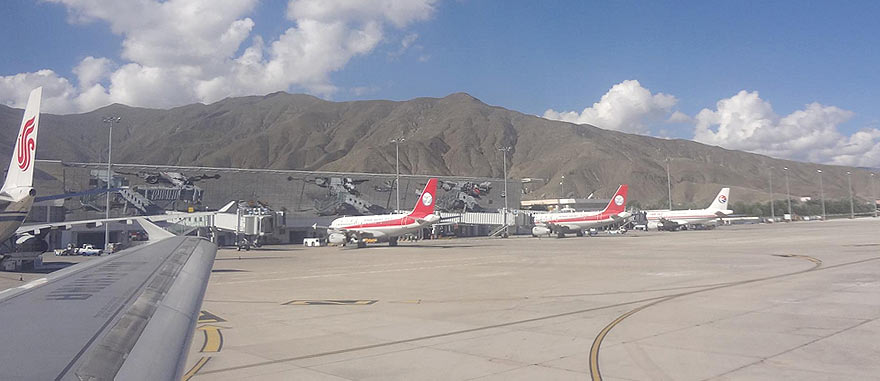 Lhasa airport in Tibet China