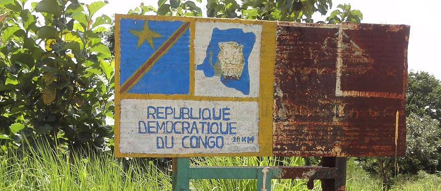Road Sign to the Democratic Republic of the Congo
