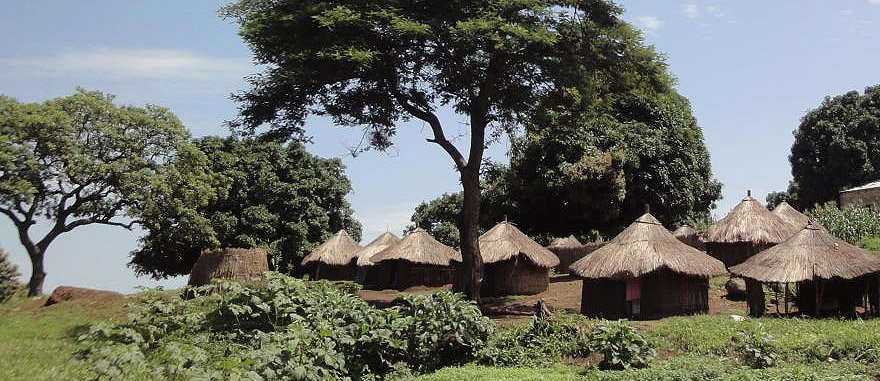 Houses on the Road Yei to Lasu Central Equatoria - South Sudan Travel Guide