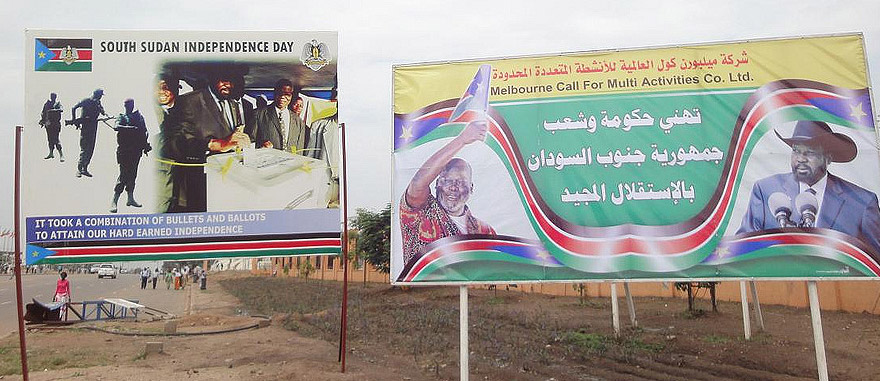 Independence Day commemorative billboards in Juba - South Sudan Travel Guide