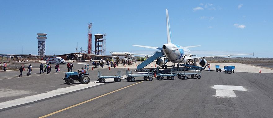 Fly to Baltra Island Seymour Airport in Galapagos