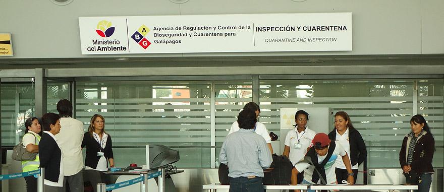 Galapagos Airport Quarantine Inspection