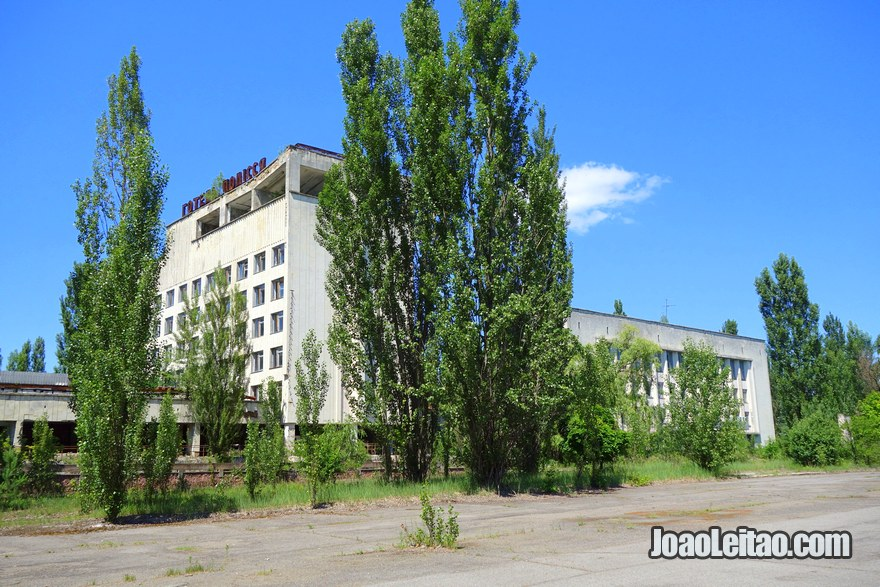 Polissya Hotel in Pripyat Ghost City