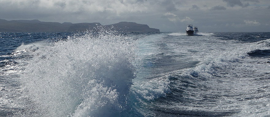 Galapagos Islands Transfers can be done by Boat Taxi - 2 hour trip