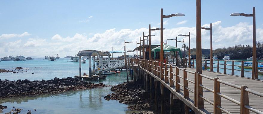 Puerto Ayora Harbour in Santa Cruz Island Galapagos