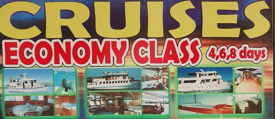 Cruzeiros nas Galápagos classe económica