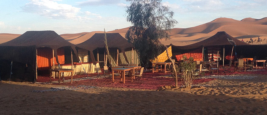 Tents in front of hotel - Mind-blowing Sahara Desert Hotel