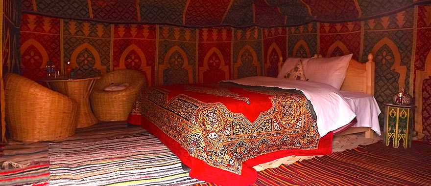Oasis room inside tent - Mind-blowing Sahara Desert Hotel