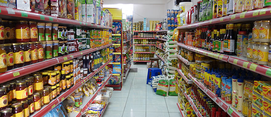 A supermarket in Galapagos looks like this