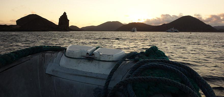 Zodiac trip back to Estrella del Mar Galapagos Cruise