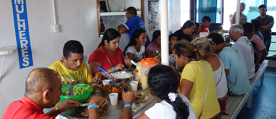 Amazon River boat Dining Hall