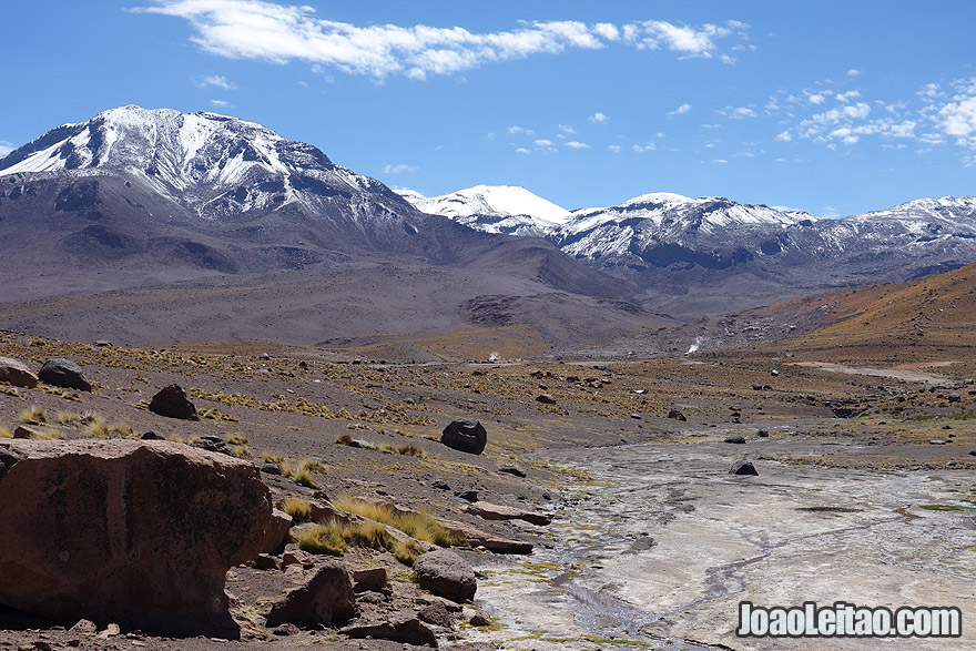 Snow Mountains in Atacama Chile