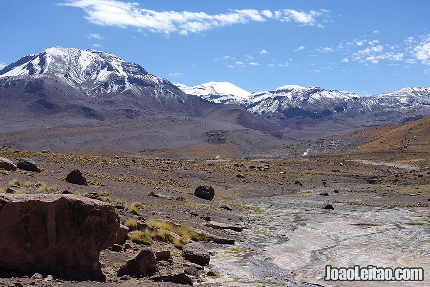 Snow Mountains in Atacama Chile