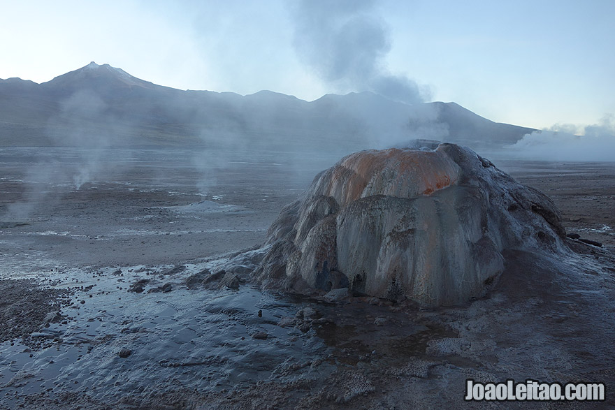 Geyser El Tatio in Atacama Desert Chile