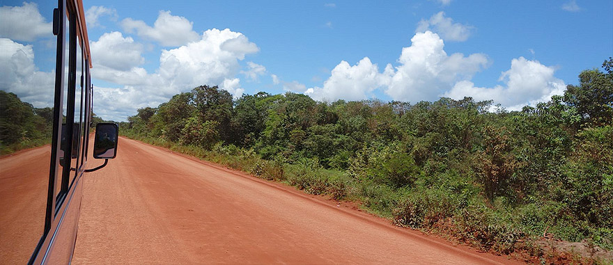 Bus from Paramaribo to Albina in Suriname