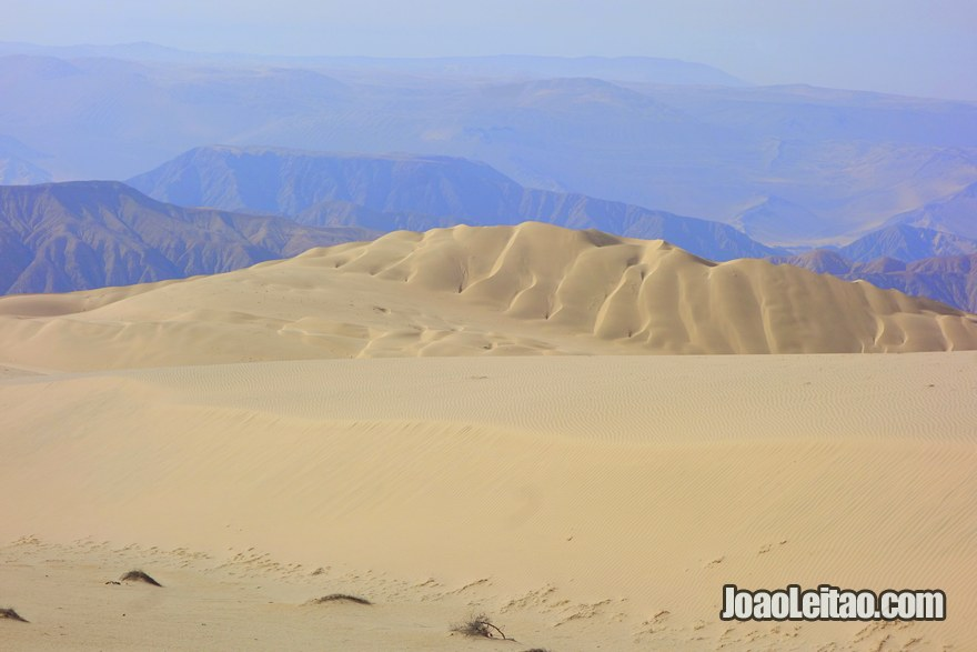 Peruvian mountain desert from the top of Cerro Blanco Dune