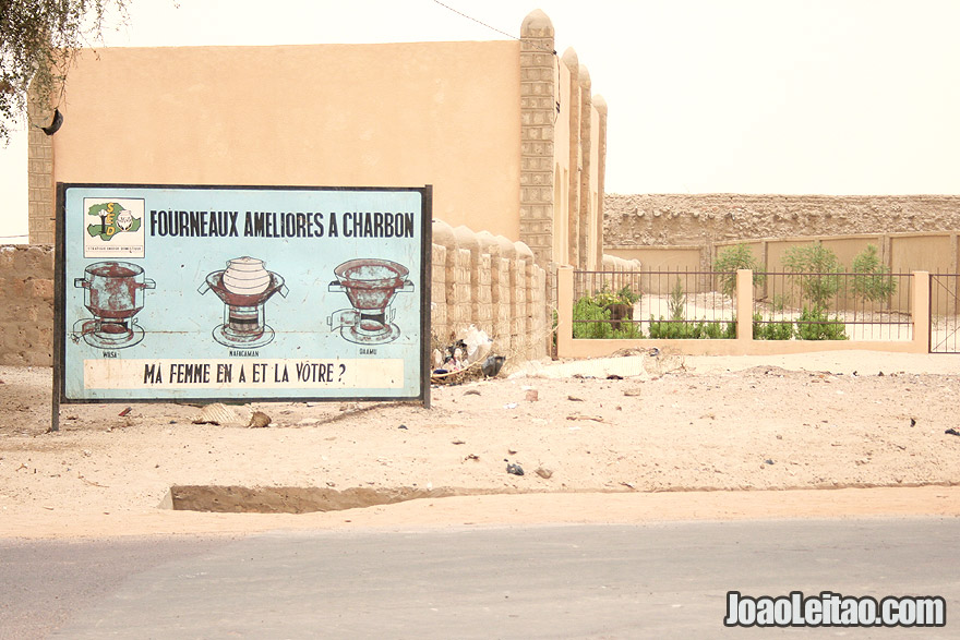 Charcoal oven advertisement in Timbuktu