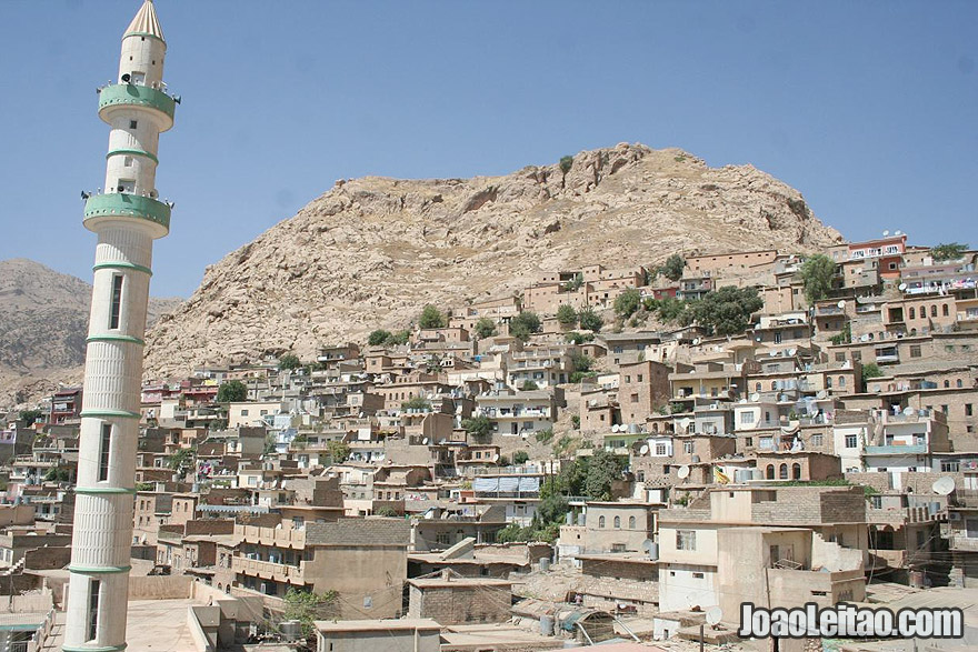 View of the city of Aqrah - Akre in Kurdistan