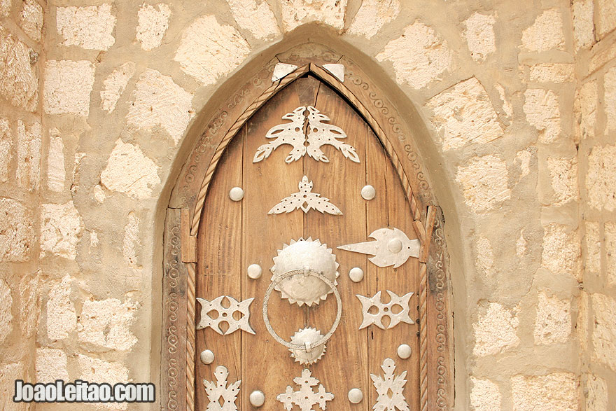 Beautiful wooden door in Timbuktu